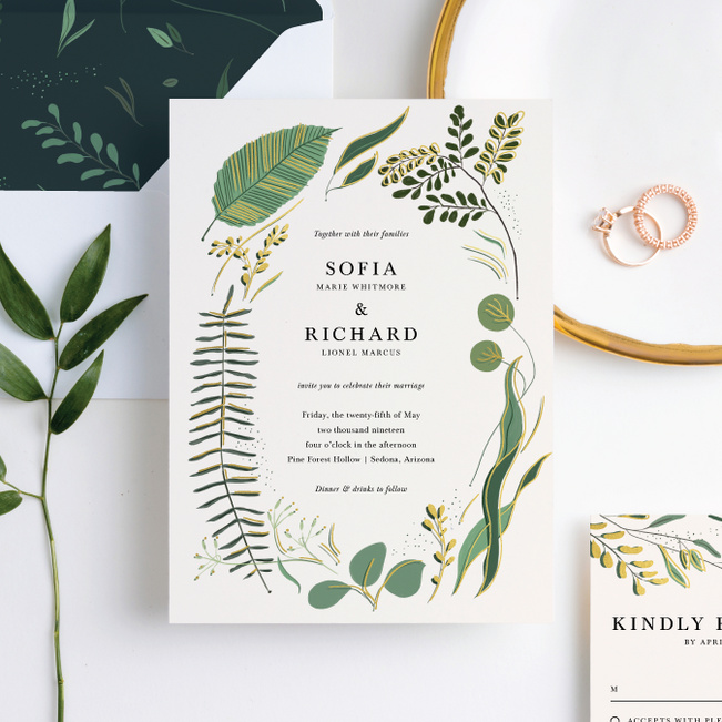Rustic Forest Wedding Invitation Suites Paper Culture