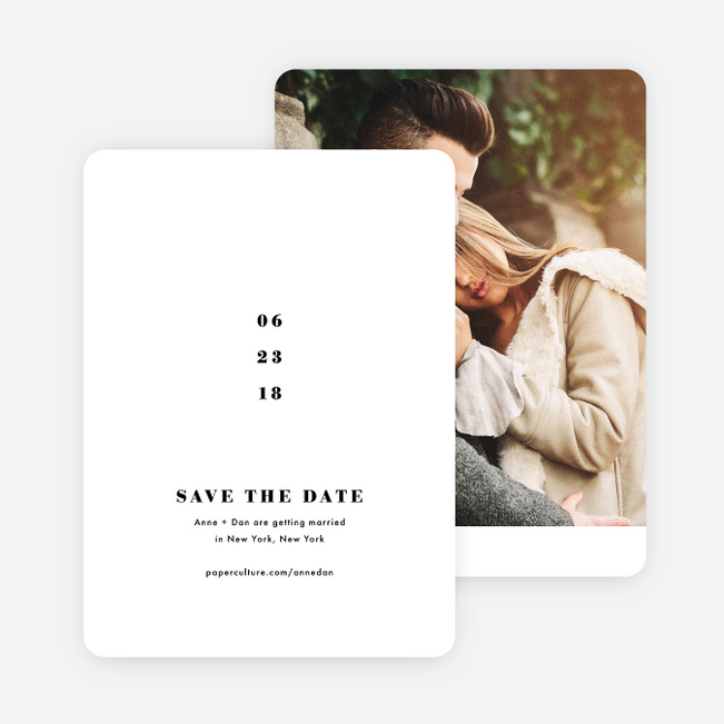 Simply Married Save the Dates - White