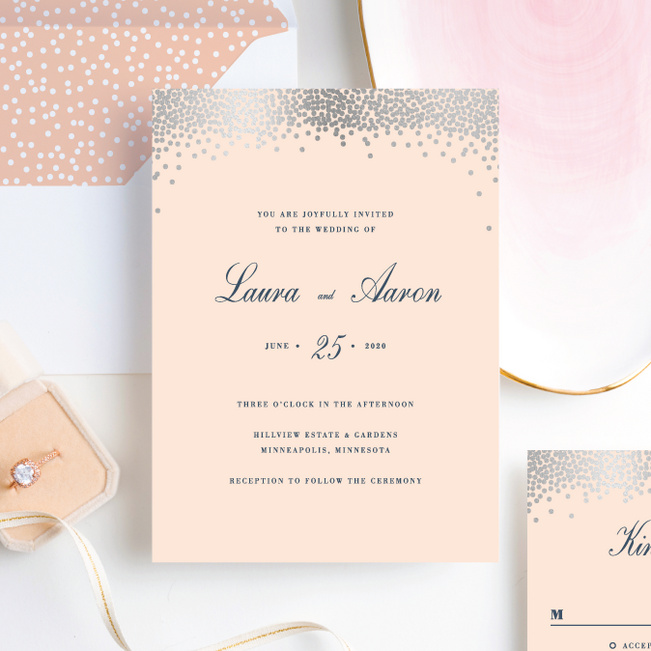 Confetti of Joy Wedding Invitations - Pink