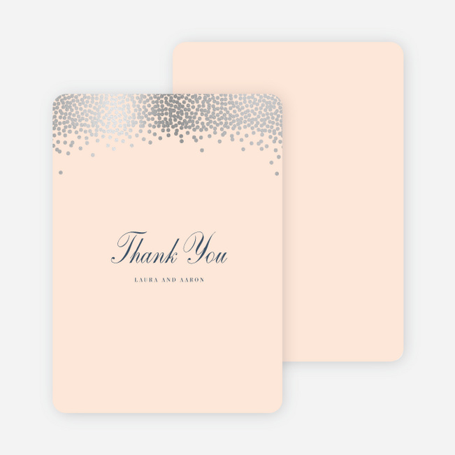 Confetti of Joy Wedding Thank You Cards - Pink
