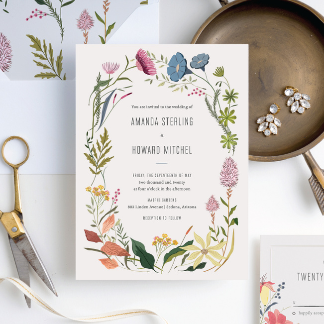 Herbs & Wildflowers Wedding Invitation Suites - Multi
