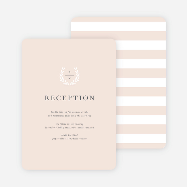 wedding reception cards paper culture