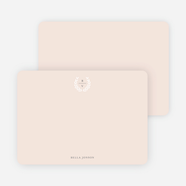 Look to Your Laurels Wedding Thank You Cards - Beige