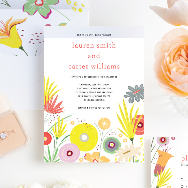 Vibrant Botanicals Wedding Invitation Suites - Multi