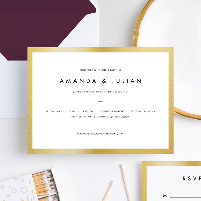 Wedding Frame of Mind Wedding Invitations - Purple