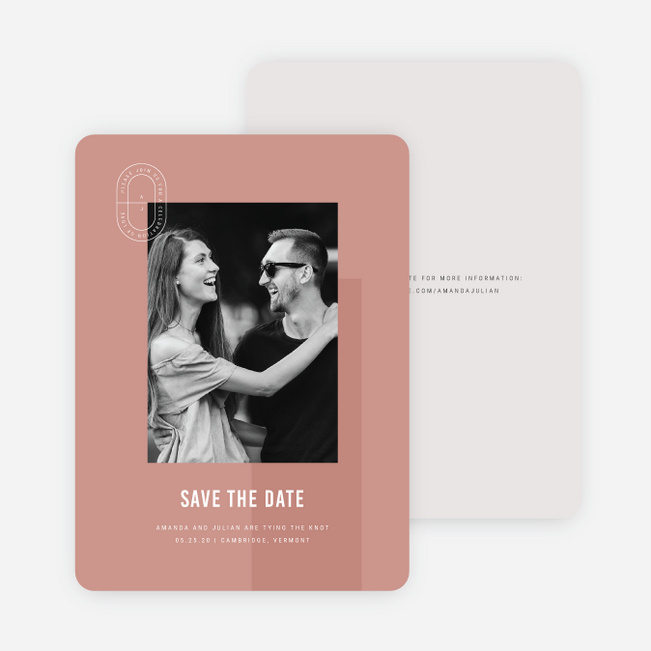 Artisanal Details Save the Date Cards - Pink