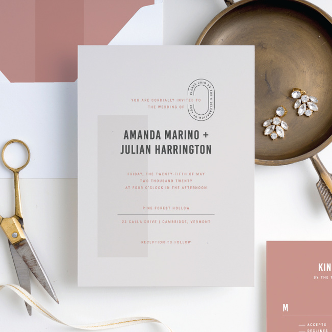 Artisanal Details Wedding Invitation Suites - Pink