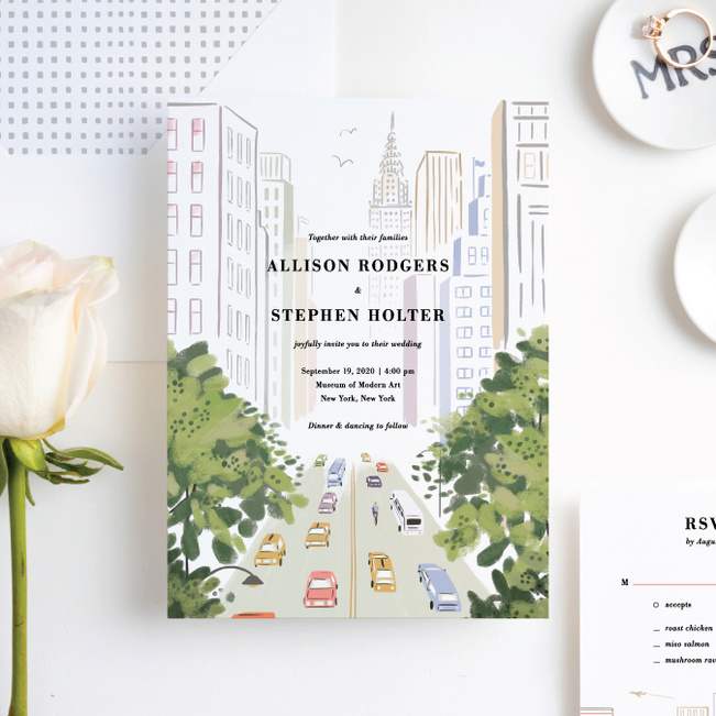 Madison Avenue Wedding Invitation Suites - Multi