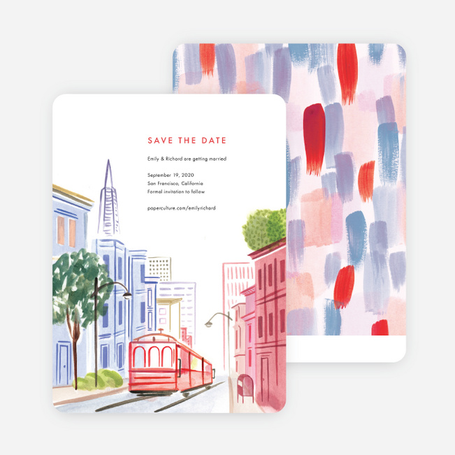 Scenic San Fran Save the Date Cards - Multi