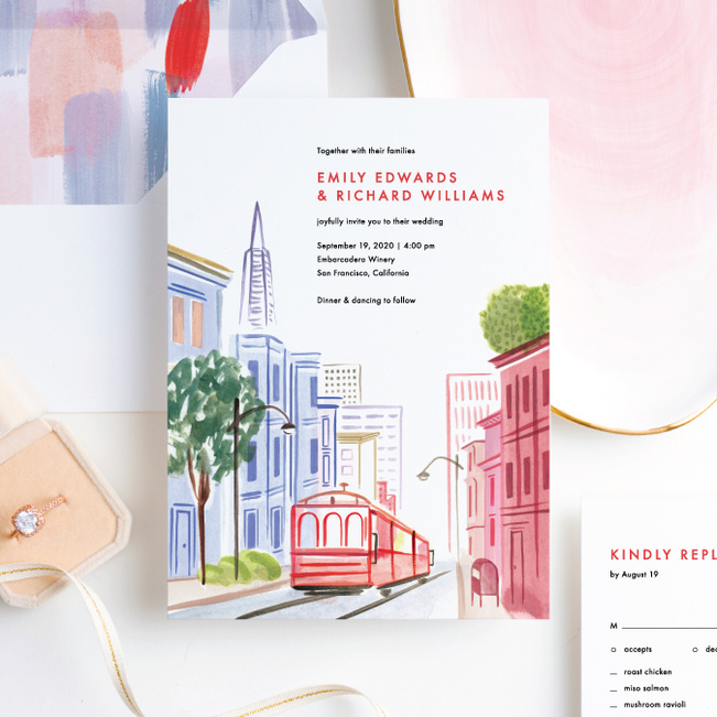 Scenic San Fran Wedding Invitation Suites - Multi