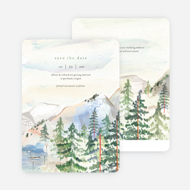 Tahoe Inspired Save the Date Cards - Multi