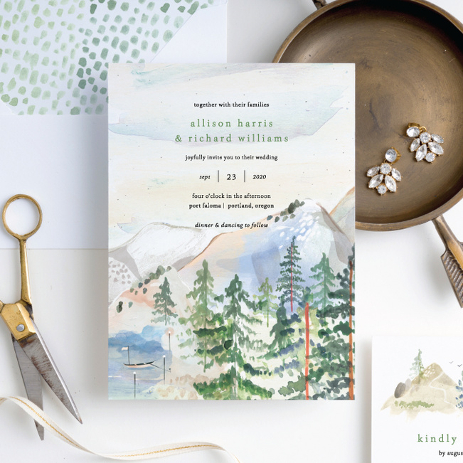 Tahoe Inspired Wedding Invitation Suites - Multi