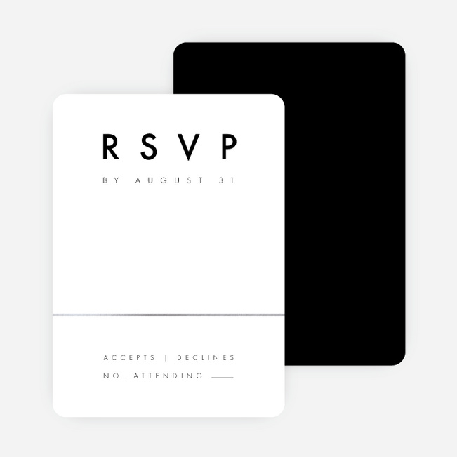 Foil Amplify Wedding Response Cards - Black