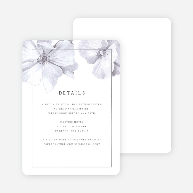 Modern Meets Vintage Wedding Information Cards - Gray