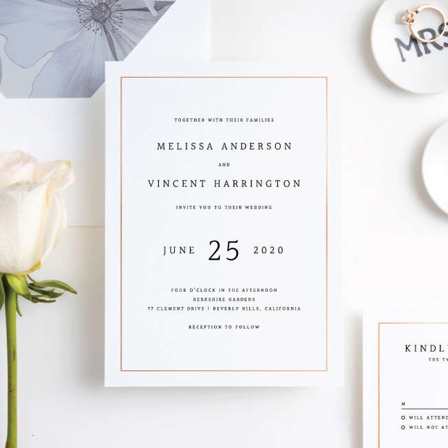 Modern Meets Vintage Wedding Invitation Suites - Pink