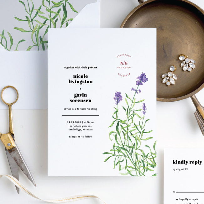 Wine Country Wedding Invitation Suites - White