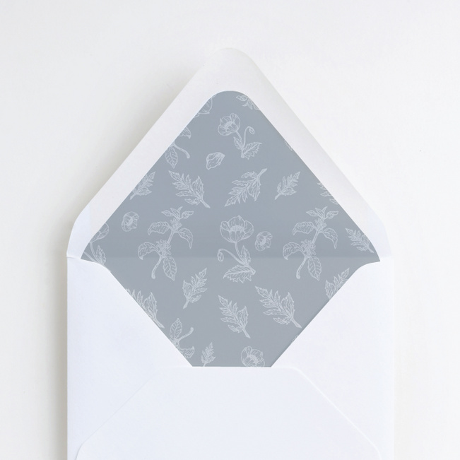 Vintage Print Wedding Envelope Liners - Gray