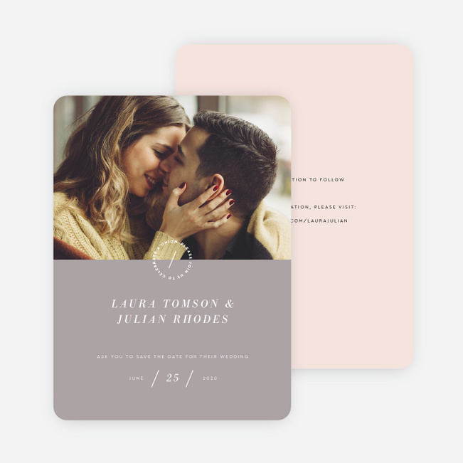 Surprise Flowers Save the Date Cards - Gray