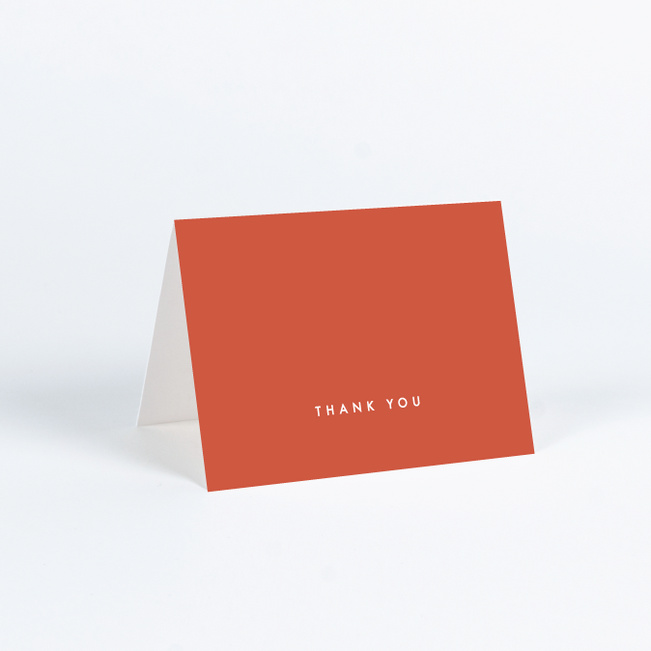 Color Pop Wedding Thank You Cards - Red