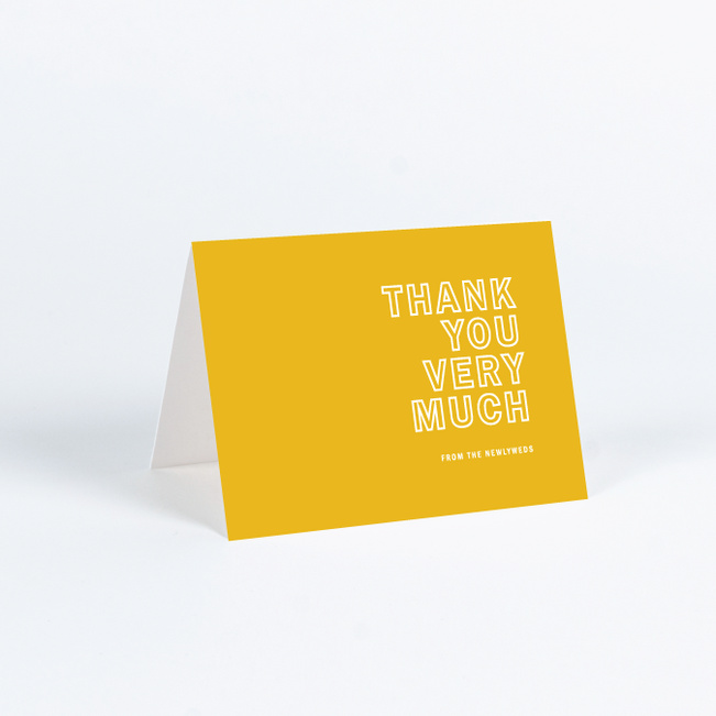 Color Up Wedding Thank You Cards - Yellow