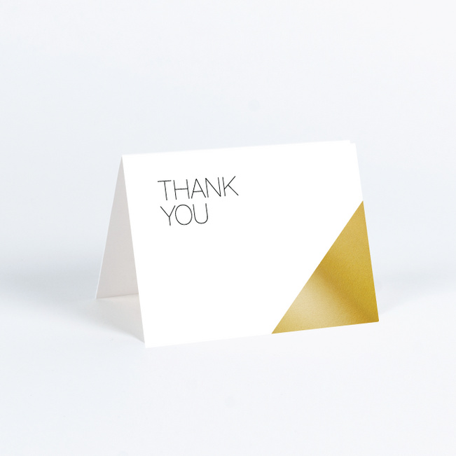 Cornerstones of Bliss Wedding Thank You Cards - White
