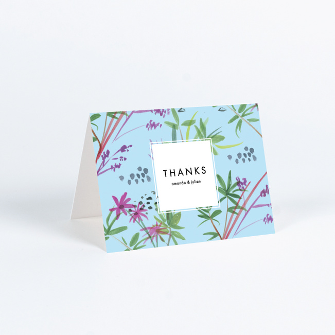 Destination Bound Wedding Thank You Cards - Multi