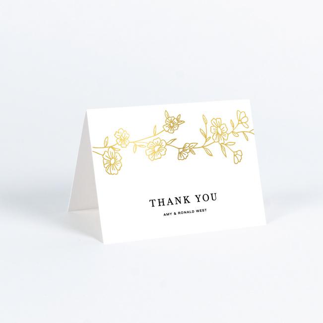 elegant roses wedding thank you cards
