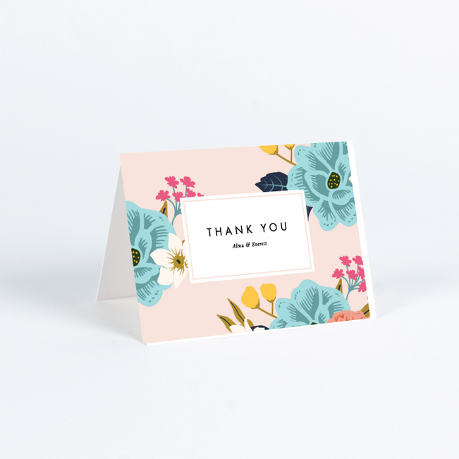 floral patterns wedding thank you cards