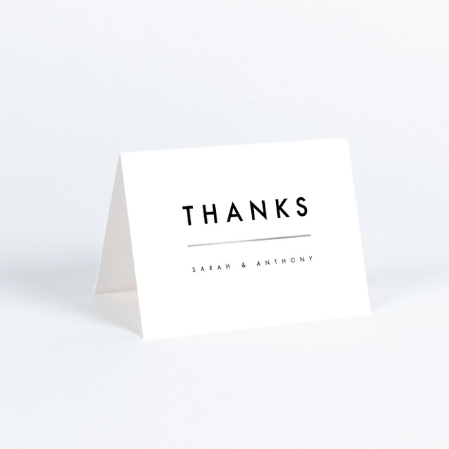 Foil Amplify Wedding Thank You Cards - Black