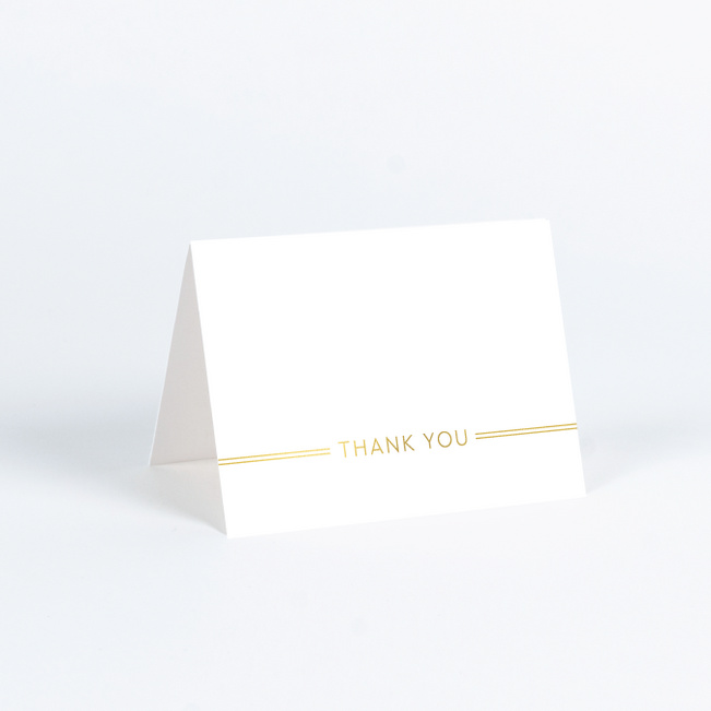 Foil You & Me Wedding Wedding Thank You Cards - Yellow