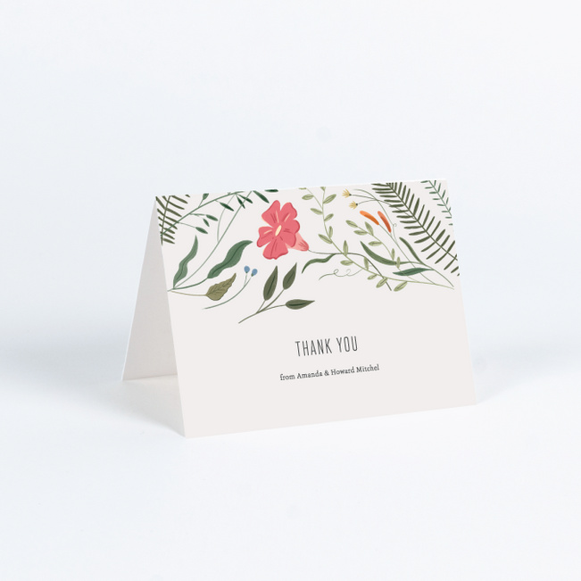 Herbs wildflowers wedding thank you cards paper culture thecheapjerseys Image collections