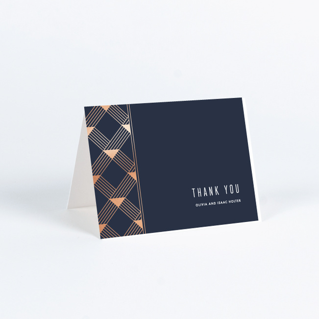 Love Angles Wedding Thank You Cards - Blue