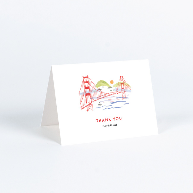 Scenic San Fran Wedding Thank You Cards - Multi