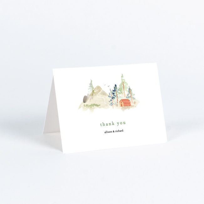 Tahoe Inspired Wedding Thank You Cards - Multi
