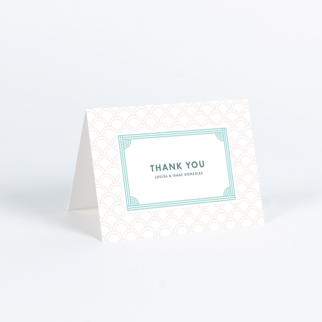 Vogue Imagination Wedding Thank You Cards - Blue