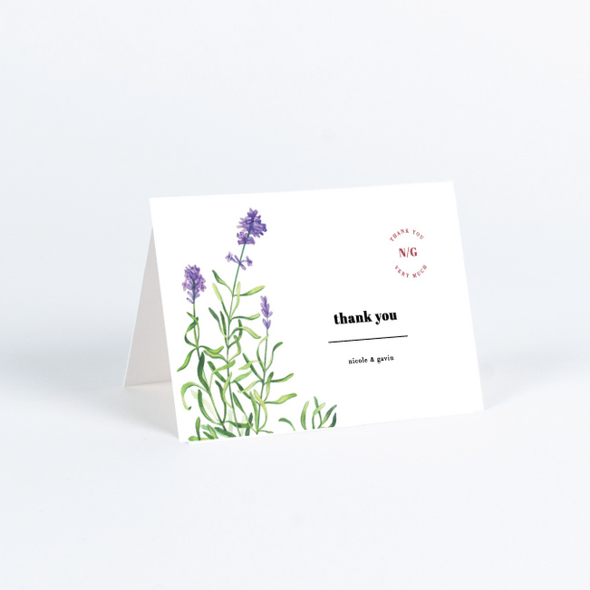 Wine Country Wedding Thank You Cards - White