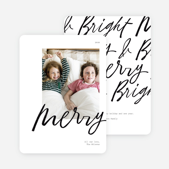 Merry All Around Christmas Photo Cards & Holiday Photo Cards - Black