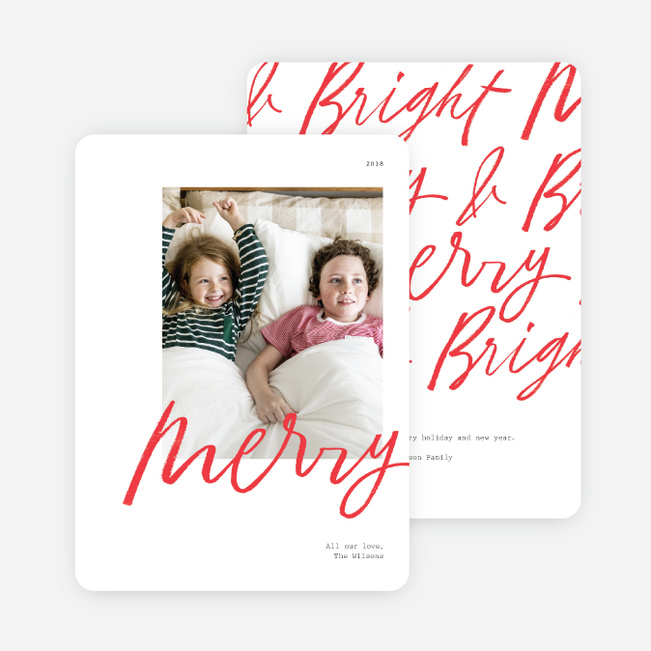 Merry All Around Christmas Photo Cards & Holiday Photo Cards - Red