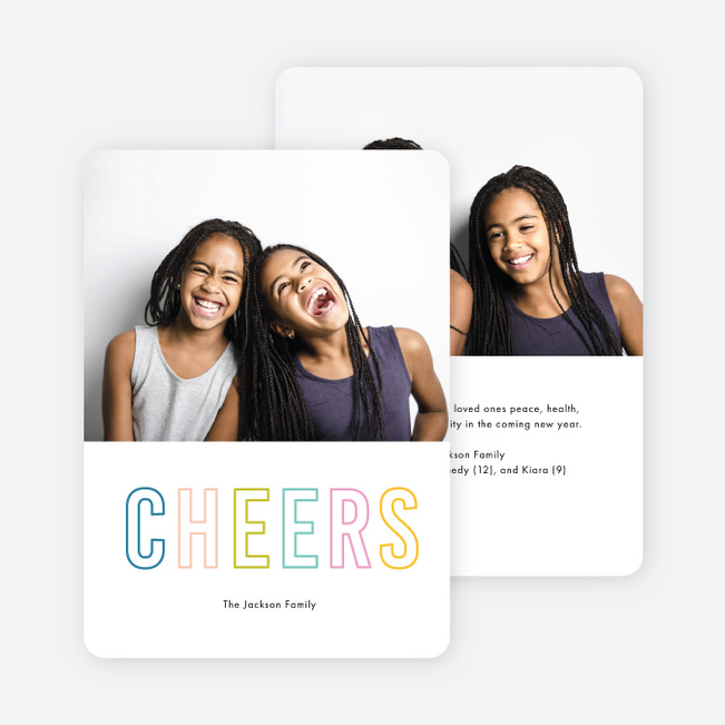 Shades Of Cheer Multi Photo Holiday Cards - Multi