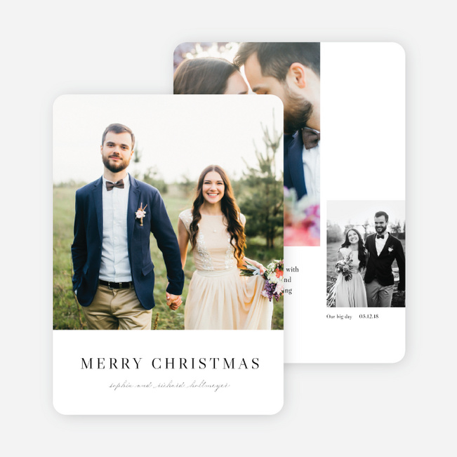 married bright christmas cards black - Collage Christmas Cards