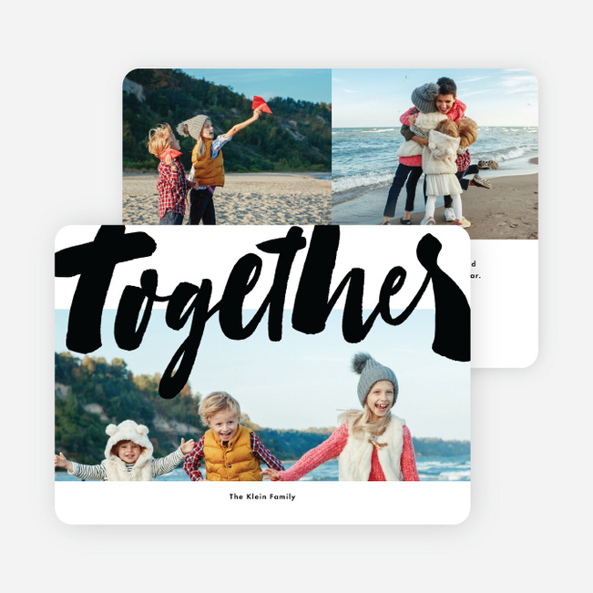 Bold Together Multi Photo Holiday Cards - White
