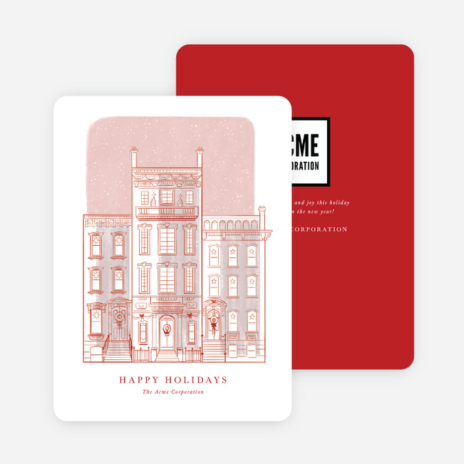 Holiday Row Business and Corporate Holiday Cards - Red