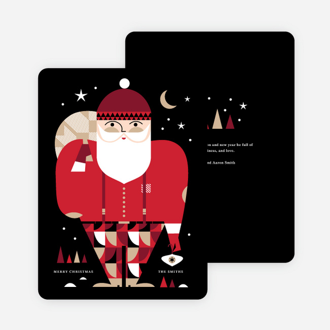 modern santa christmas cards multi - Christmas Images For Cards