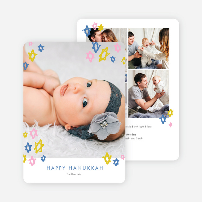 Playful Stars Hanukkah Cards - Multi