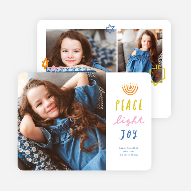 Star Joy Hanukkah Cards - Multi