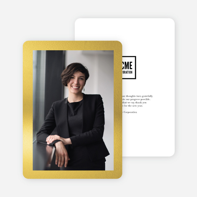 Borderline Business and Corporate Holiday Cards - Yellow