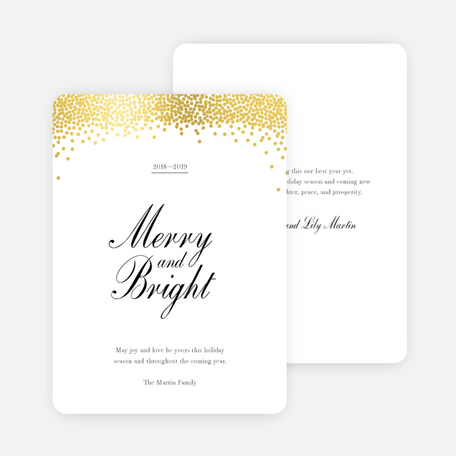 Foil Snow Header Multi Photo Holiday Cards - Yellow