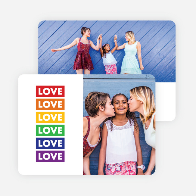 Love Flag Multi Photo Holiday Cards - Multi
