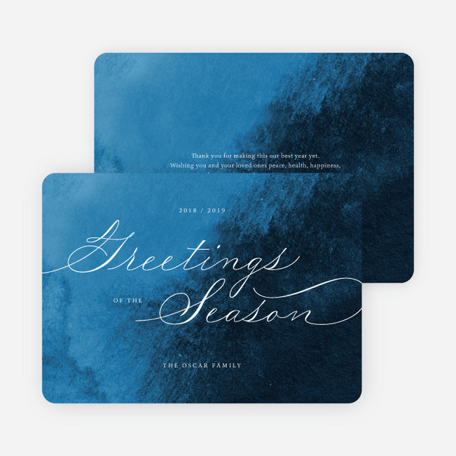 Delicate Script Multi Photo Holiday Cards - Red