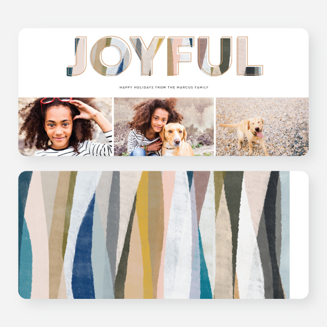 Natural Landscape Letters Multi Photo Holiday Cards - Multi